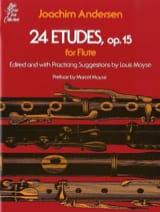 24 Etudes op. 15 Joachim Andersen Partition laflutedepan.com