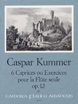 Kaspar Kummer - 6 Caprices ou Exercices op. 12 - Partition - di-arezzo.fr