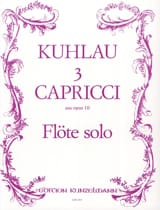 Friedrich Kuhlau - 3 Capricci aus op. 10 - Solo flute - Sheet Music - di-arezzo.co.uk