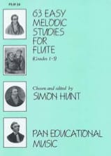 Simon Hunt - 63 Easy melodic studies for flute - Sheet Music - di-arezzo.co.uk