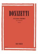 Studio primo -Clarinetto Gaetano Donizetti Partition laflutedepan.com