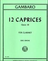 Giovanni Battista Gambaro - 12 Caprices op.18 - Sheet Music - di-arezzo.co.uk