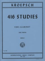 Fritz Kroepsch - 416 Studies - Volume 1 - Sheet Music - di-arezzo.com
