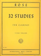 32 Studies for clarinet Cyrille Rose Partition laflutedepan.com