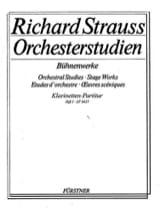 Richard Strauss - Orchesterstudien Bühnenwerke - Heft 1 –Klarinetten-Partitur - Partition - di-arezzo.fr