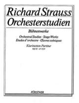Richard Strauss - Orchesterstudien Bühnenwerke - Heft 3 –Klarinetten-Partitur - Partition - di-arezzo.fr