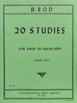 Henri Brod - 20 Studies - Oboe english horn - Sheet Music - di-arezzo.co.uk