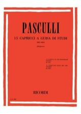 15 Capricci a guisa di studi Antonino Pasculli laflutedepan.com