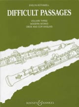 Evelyn Rothwell - Difficult passages - Volume 3 - Oboe / English Horn - Sheet Music - di-arezzo.co.uk