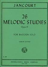 26 Melodic studies op. 15 Eugène Jancourt Partition laflutedepan.com