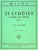 25 Studies in scales and chords op. 24 Ludwig Milde laflutedepan.com