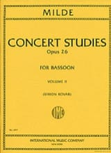 Ludwig Milde - Concert Studies volume1 / Concert studies op.26 - Sheet Music - di-arezzo.co.uk