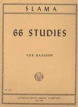 66 Studies –Bassoon Anton Slama Partition Basson - laflutedepan.com