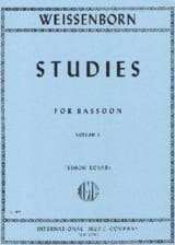 Julius Weissenborn - Studies op. 8 - volume 1 - Sheet Music - di-arezzo.co.uk