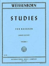 Julius Weissenborn - Studies op. 8 – volume 2 - Partition - di-arezzo.fr