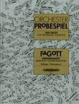 Kolbinger Karl / Rinderspacher Alfred - Trazos orquestales para fagot y contrabasso. - Partitura - di-arezzo.es