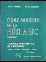 Ecole Moderne de la Flûte à Bec Soprano Volume 2 - laflutedepan.com