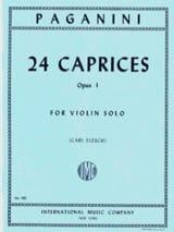 Niccolò Paganini - 24 Caprices op. 1 (Flesch) - Partition - di-arezzo.fr
