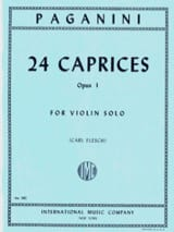 24 Caprices op. 1 Flesch Niccolò Paganini Partition laflutedepan.com