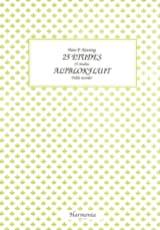 Hans P. Keuning - 25 Etudes - Altblokfluit - Partition - di-arezzo.fr