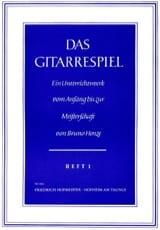 Das Gitarrespiel - Volume 1 Bruno Henze Partition laflutedepan