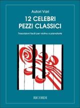 12 Celebri Pezzi Classici - Violon Ricordi Album laflutedepan.com