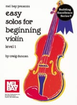 Craig Duncan - Easy solos for beginning Violon – Level 1 - Partition - di-arezzo.fr