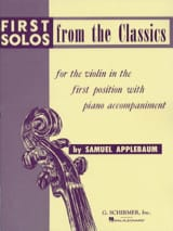 First solos from the classics - Samuel Applebaum - laflutedepan.com