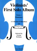 George Perlman - Violinists' First Solo Album Volume 1 - Partition - di-arezzo.fr