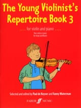 Keyser Paul De / Waterman Fanny - The Young Violonist's Repertoire Book 3 - Partition - di-arezzo.fr
