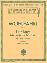 Franz Wohlfahrt - 50 Easy melodious studies op. 74, Volume 2 - Partition - di-arezzo.fr