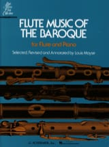 Louis Moyse - Flute Music of the Baroque - Flute piano - Partition - di-arezzo.fr