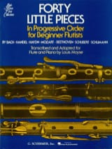 40 Little pieces Partition Flûte traversière - laflutedepan.com