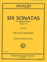 Il Pastor Fido Op. 13 - Volume 2 - Antonio Vivaldi - laflutedepan.com