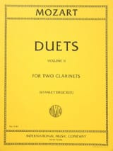 MOZART - 6 Duets - Volume 2 - 2 Clarinets - Sheet Music - di-arezzo.co.uk