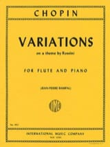 Variations on a theme by Rossini – Flute piano - laflutedepan.com