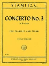 Carl Stamitz - Concerto No. 3 Bb Major - Piano Clarinet - Sheet Music - di-arezzo.co.uk