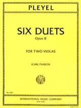 6 Duets op. 8 - 2 Violas Ignaz Pleyel Partition laflutedepan.com