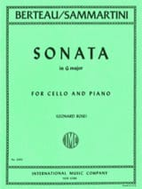 SAMMARTINI - Sonata in G major - Sheet Music - di-arezzo.co.uk