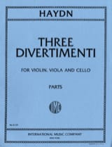 HAYDN - 3 Divertimenti - Parts - Sheet Music - di-arezzo.com