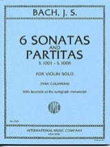 6 Sonatas and Partitas BWV 1001-1006 BACH Partition laflutedepan.com