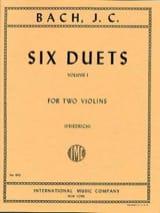 6 Duets, Volume 1 Johann Christian Bach Partition laflutedepan.com