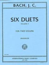 6 Duets, Volume 2 Johann Christian Bach Partition laflutedepan.com