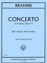 Concerto pour Violon op. 77 en Ré Majeur BRAHMS laflutedepan.com
