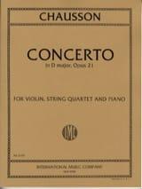 Concerto in D major op. 21 –Violin, string quartet piano - laflutedepan.com
