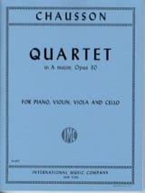 Quatuor la majeur op. 30 -Parts CHAUSSON Partition laflutedepan