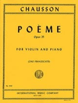 Ernest Chausson - Poème op. 25 Francescatti - Partition - di-arezzo.fr