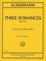 3 Romances op. 94 SCHUMANN Partition Violoncelle - laflutedepan.com