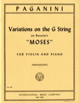 Variations on G String on Rossini's Moses laflutedepan.com