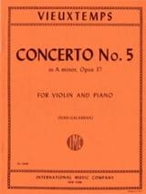 Henri Vieuxtemps - Concerto Violon n° 5 la mineur op. 37 - Partition - di-arezzo.fr